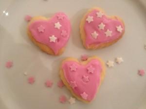 Valentines heart biscuits step 1