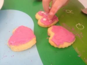 Valentines heart biscuits step 5