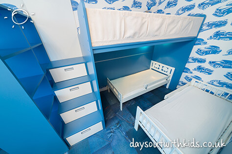 Beautiful blue bedroom #Daysoutwithkids