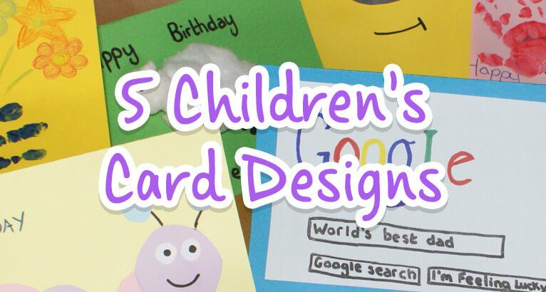 Children's Cards Designs on #Daysoutwithkids