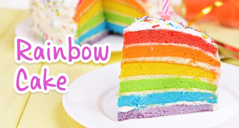 Rainbow Cake on #daysoutwithkids
