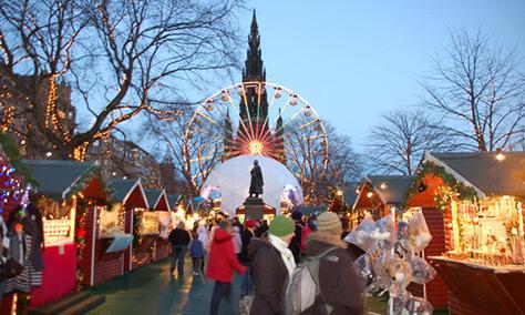 edinburgh christmas market on daysoutwithkids
