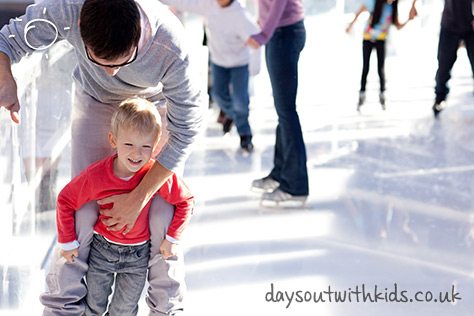 Ice skating on #daysoutwithkids