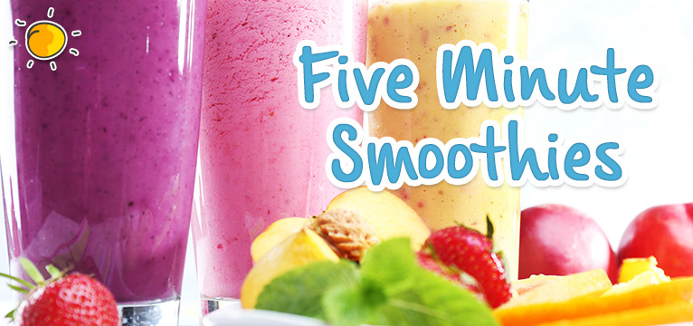 Five Minute Smoothies on #Daysoutwithkids