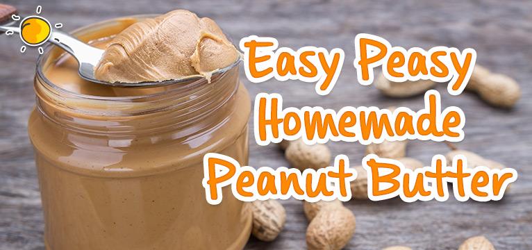 Homemade Peanut Butter on #Daysoutwithkids