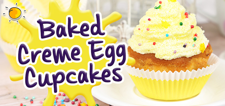 Baked Creme Egg Cupcakes - Days Out With Kids Blog