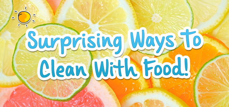 Surprising Ways To Clean With Food on #Daysoutwithkids