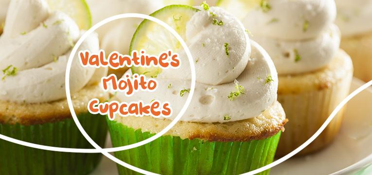 Valentine Mojito Cupcakes