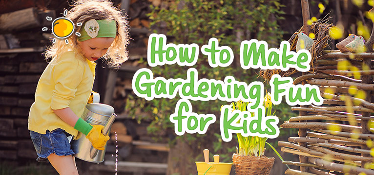 header image for how to make gardening fun for kids