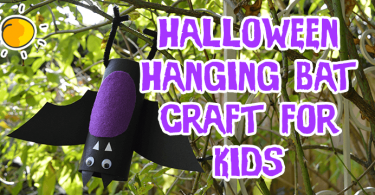 Halloween Hanging Bat Craft For Kids
