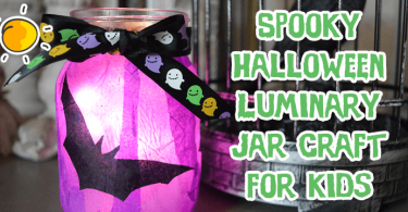 Spooky Halloween Luminary Jar Craft for kids