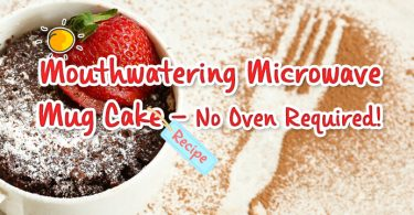 Mouthwatering Microwave Mug Cake - header-with tag