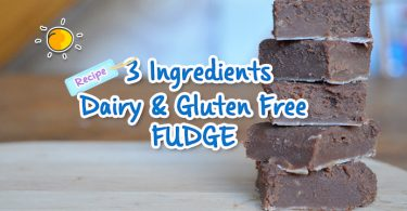 3 Ingredients Dairy & Gluten Free Fudge