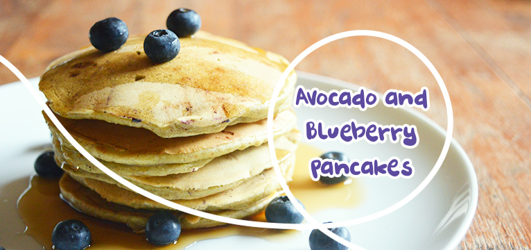 Avocado and Blueberry Pancakes