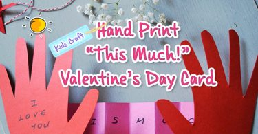 hand print this much valday card