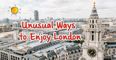 new header - unusual ways to enjoy london