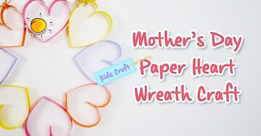 Mother's Day Paper Heart Wreath Craft-header