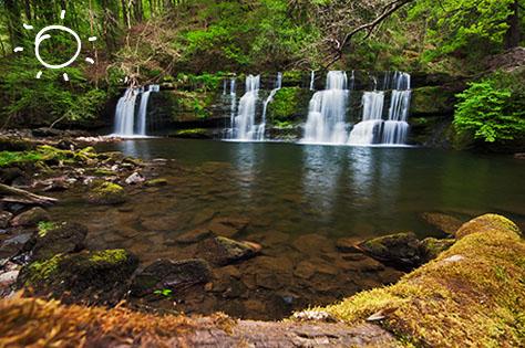 brecon beacons wales - waterfalls