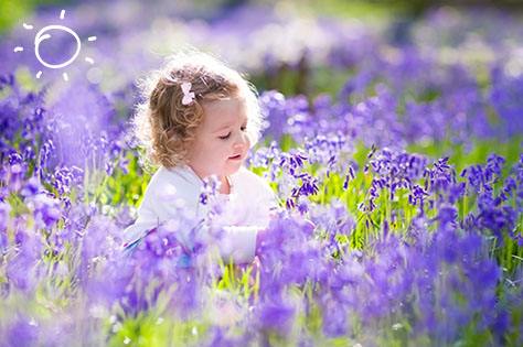 girl in bluebell bigstock