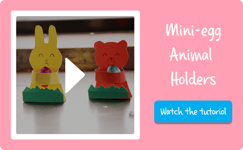 Kids Craft Mini Egg Animal Holders Video Template Picniq Blog