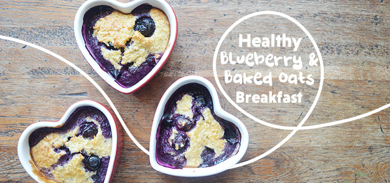 Healthy Blueberry and Baked Oats