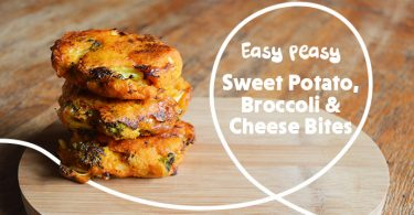 Sweet Potato, Broccoli and Cheese Bites