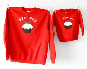 Big Pud Little Pud Christmas Jumper