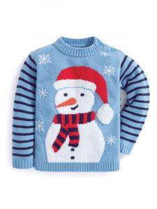 Jojo Maman Snowman Cashmere Christmas Jumper