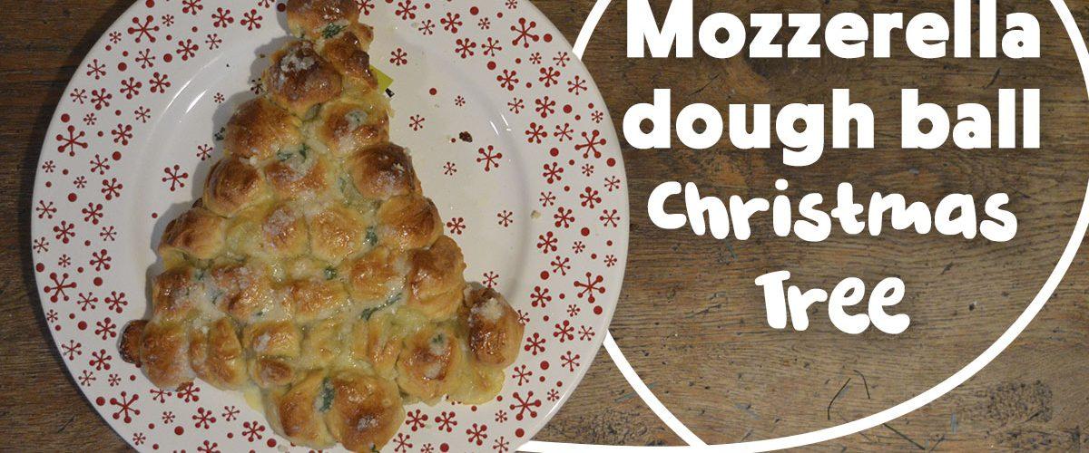 Mozzarella Dough Ball Christmas Tree