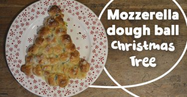 Mozzarella Dough Ball Christmas Tree