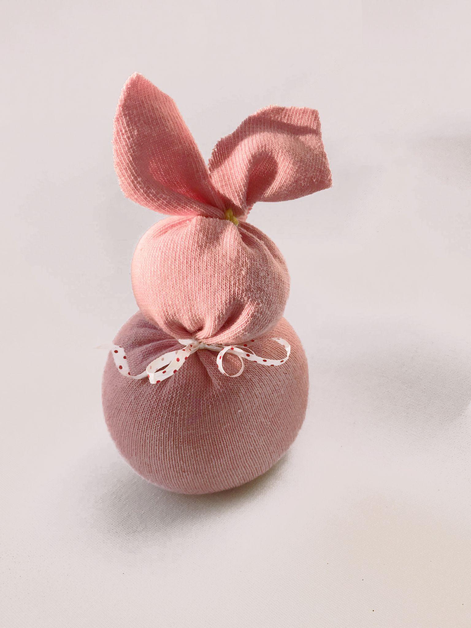 Easter Sock Bunny Craft Step 4