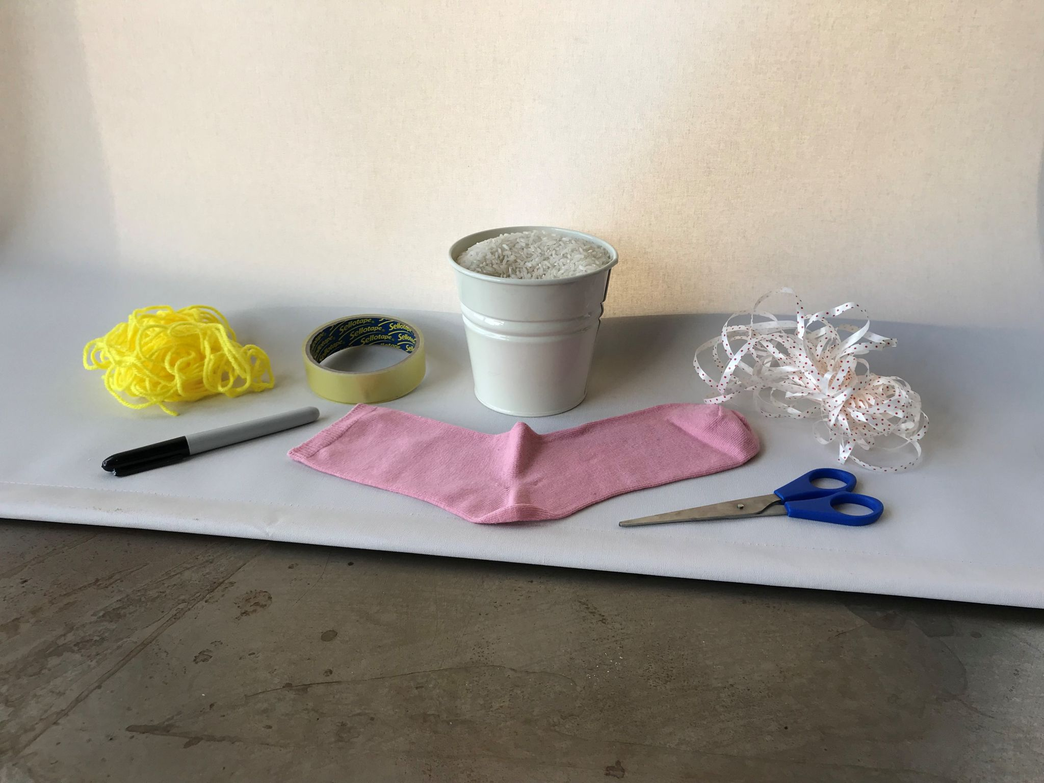 Easter Sock Bunny Craft Step 1