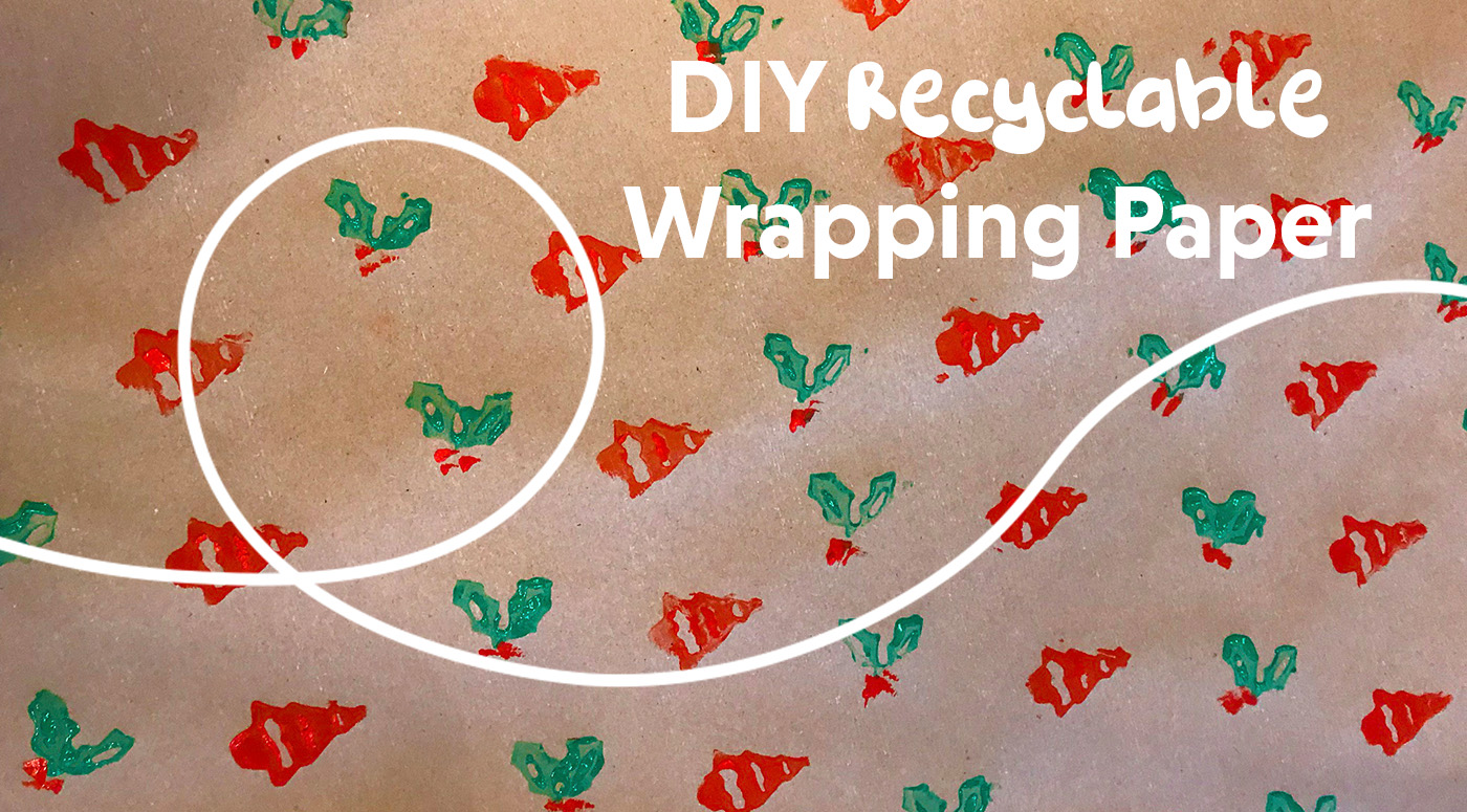 diy recyclable wrapping paper picniq blog. Black Bedroom Furniture Sets. Home Design Ideas