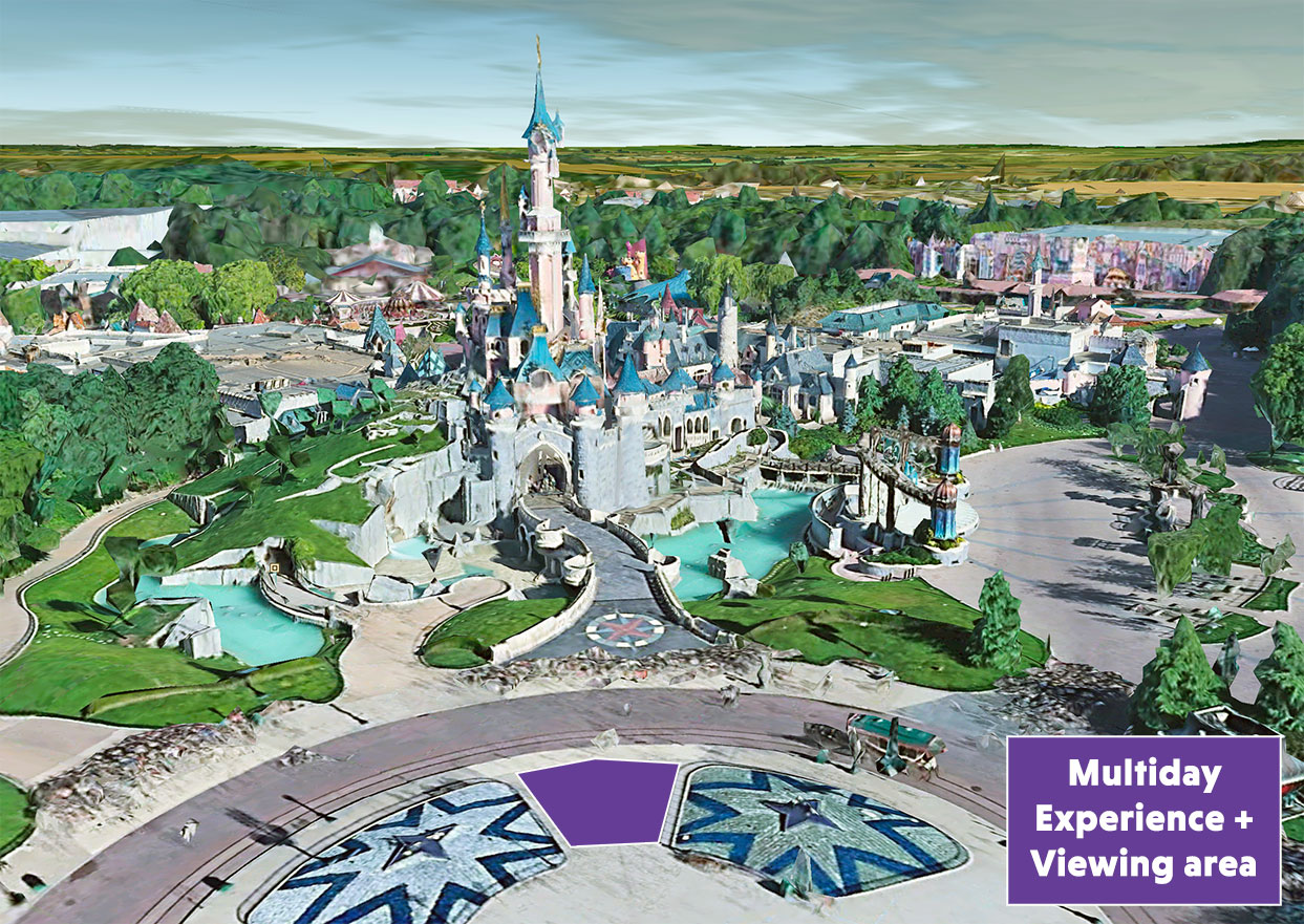 disney experience plus viewing area