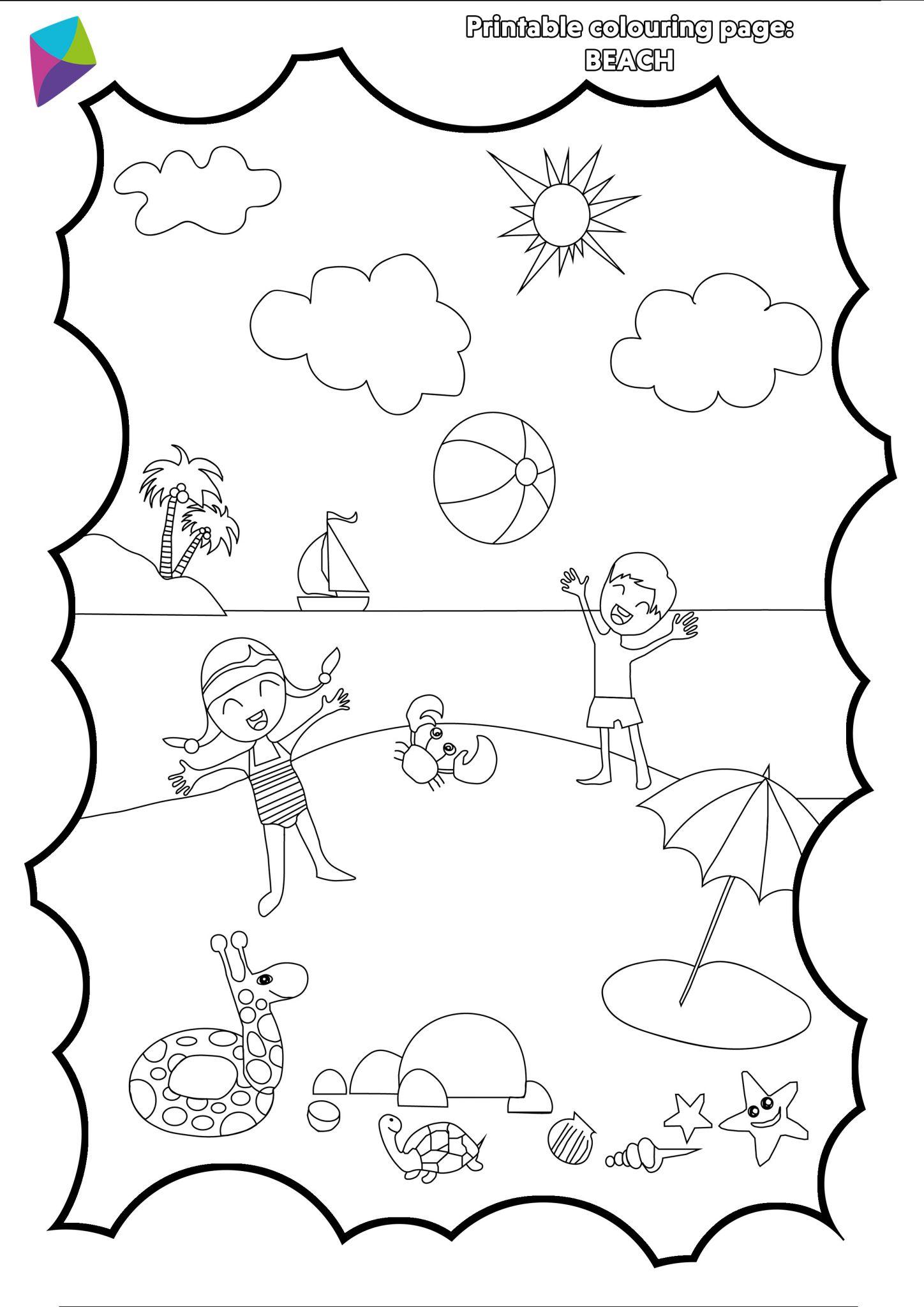 Summer Colouring Sheet PDF - Picniq Blog